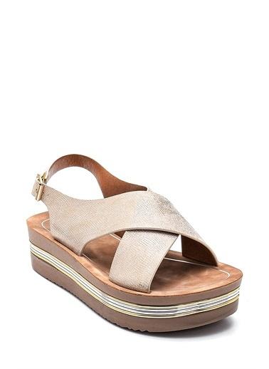 Derimod Kadın Casual Sandalet Altın